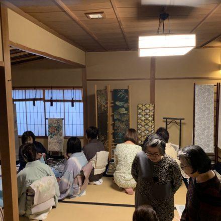 長崎で渡文の帯の販売会を行いました。